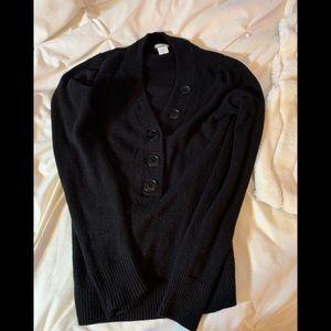 J Crew Black cashmere sweater